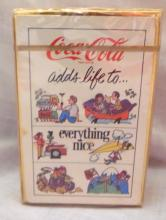 1976 Coke adds life to everything nice coca cola playing cards, Sealed