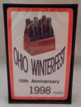 1998 Ohio Winter Fest 15th Anniversary coca cola playing cards, sealed