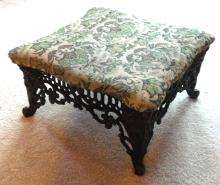 Contemporary Victorian Cast Base Stool, 12 x 9 x 11
