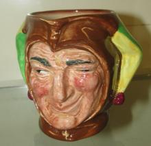 Jester Royal Doulton Toby Mug Pitcher Winking Jester England Figural 3