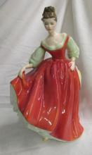 Royal Doulton Fair Lady figurine Peggy Davies HN 2832 woman in red dress, 7 1/2