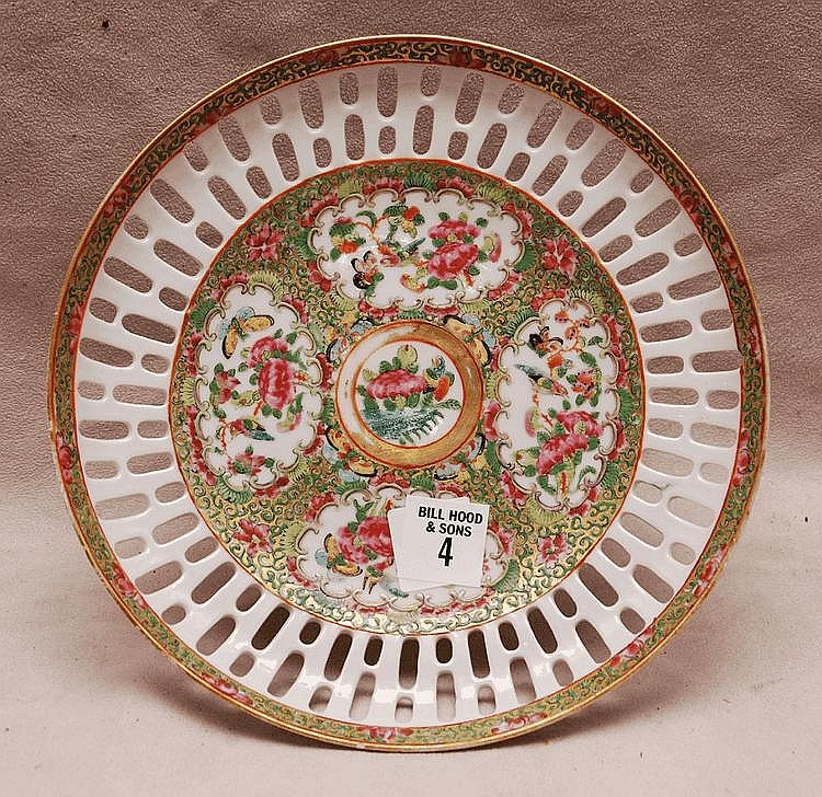 Rose Medallion reticulated Tazza, 4