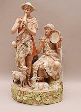 Royal Dux Porcelain Figural Group.  Condition: minor losses. Ht. 11 3/4