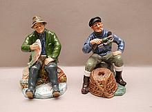 2 seated Royal Doulton figurines,