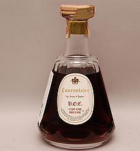 Baccarat decanter full of Courvoisier, 8 1/2