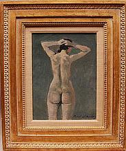 Nicolai S. (Nicola) Cikovsky  (New York / Russian Federation/Poland1894 - 1984) oil on canvas Nude signed lower right, 12