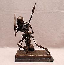 Bronze skeleton detailed warrior, 12