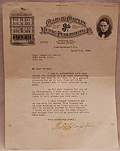 Charles Chaplin typed and hand signed letter, 11