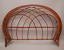 Hickory bent twig King headboard, 74