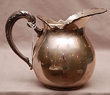 Peruvian sterling silver pitcher, 12ozt