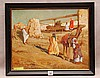 Alberto Pasini attrib. (Italian 1826-1899) orientalist scene, oil on wood panel, signed