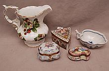 5pcs. Of porcelain, Spode pitcher (6 3/4