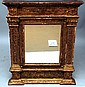 18th c. gilded architectural style framed mirror