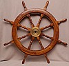 Solid Thomas E. Colvin Large Sailboat Wooden Wheel. 37 1/2