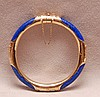 Ladies lapis bangle bracelet, 14kt