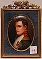Painting on porcelain of Napolean, signed Gurner, 8