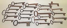 24 large skeleton keys