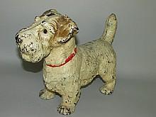 Cast iron Sealyham dog doorstop