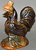 R. R. Stahl redware crowing rooster