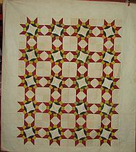 Elisabeth Bickel's 1851 friendship quilt