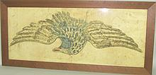 Spread-wing eagle theorem painting
