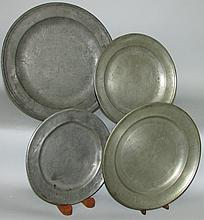 4 pewter plates