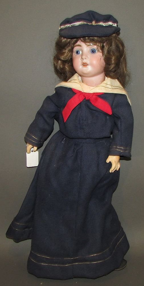 A&M; bisque head German doll