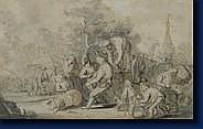 Attribué à Isaak VAN OSTADE (Haarlem 1621-1649) Le