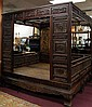 Old Chinese Hardwood Carved Marriage Canopy Bed