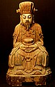 Old Wood Carved Chinese Treasure God