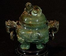 Highly Carved Jade Censer