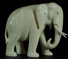 Nicely Carved Bone Elephant