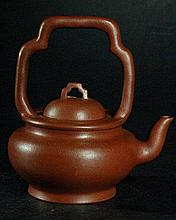 Chinese Yixing Teapot with Tall Handle