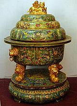 Large Cloisonné Incense Burner
