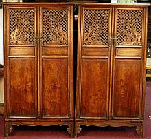 Set of Old Huanghuali Dress Cabinets