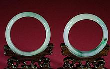 Pair of Jadeite Bangles