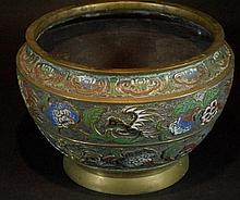 Chinese Brass Champleve Censer