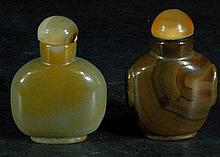 Lot of 2 Agate Snuff Bottles