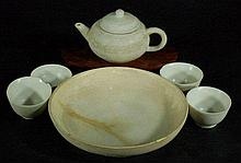 Group of 6 Chinese White Porcelain Tea Set