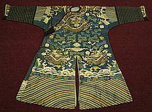 Antique Chinese Kirs Imperial Robe Qing Dynasty