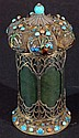 Spanish Jade Container with Cloisonne