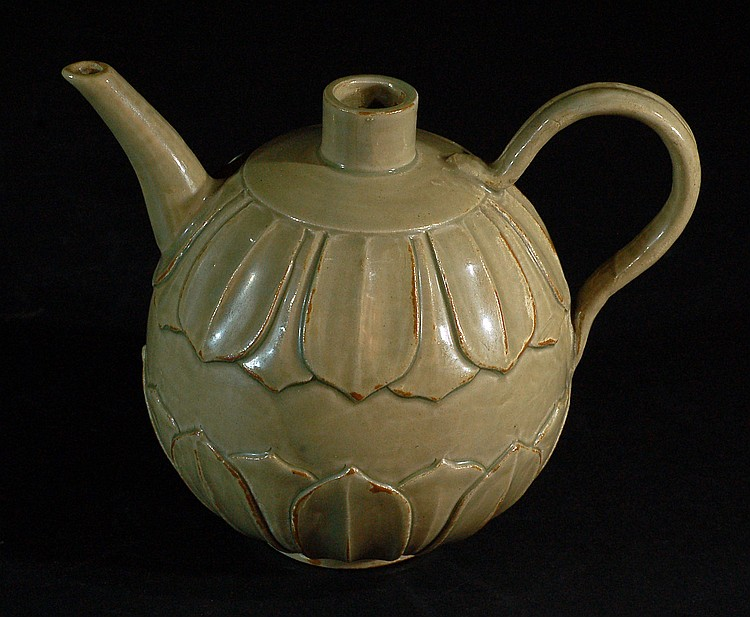 Antique Celadon Wine Pot