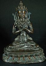 Antique Bronze Seated Buddha