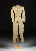 A WORLD WAR I UNITED STATES ARMY CORPS OF ENGINEERS MAN'S WOOL UNIFORM, 42ND DIVISION,  NATIONAL DEFENSE/GUARD, CIRCA 1917,