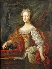 after MARTIN VAN MEYTENS (Swedish/Austrian 1695-1770) A PORTRAIT PAINTING OF THE ARCHDUCHESS MARIA ANNA OF AUSTRIA,