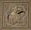 A LARGE THAI POLYCHROME AND BULLION THREAD EMBROIDERY PANEL,