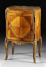 A LOUIS XV GILT BRONZE MOUNTED WALNUT CHEVET, THIRD QUARTER 18TH CENTURY,