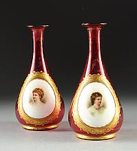 A PAIRS OF DIMINUTIVE ANTIQUE VASES, FOURTH QUARTER 19TH CENTURY,