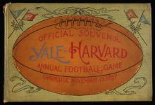 Rare November 13, 1897 Yale vs. Harvard football program.