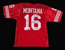 Joe Montana and Dwight Clark autographed
